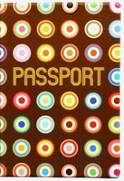 """Обложка для паспорта """"Colored Dots Brown"""""""