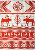 "Обложка для паспорта ""Knitted Deer 2"""