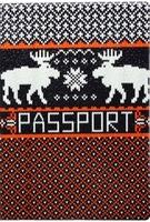 "Обложка для паспорта ""Knitted Deer"""