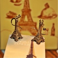 Серёжки EIFFEL TOWER SILVER