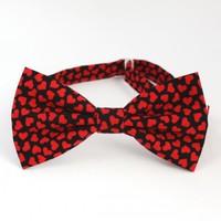 Галстук-бабочка RED HEARTS